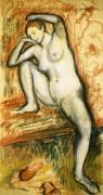Обнаженная девушка, учащаяся танцевать, 1902 - Дега, Эдгар