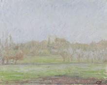Вид Безинкурт, туман, 1894 - Писсарро, Камиль