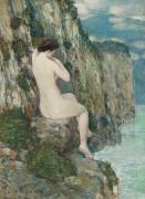 Обнаженная, мелководье, 1906 - Хассам, Фредерик Чайлд