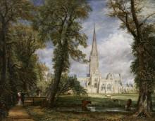 Вид а собор в Солсбери из епископских садов - Констебль, Джон