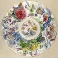 Эскиз для росписи купола оперы Гарнье - Шагал, Марк Захарович