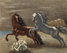 Бегущие лошади на берегу моря - Кирико, Джорджо де