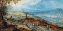 Пейзаж с крестьянами на дороге - Брейгель, Ян (младший)