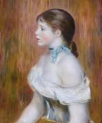 Девушка с голубой лентой - Ренуар, Пьер Огюст