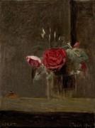 Розы в бокале - Коро, Жан-Батист Камиль