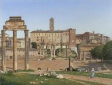Вид форума в Риме - Эккерсберг, Кристоффер Вильхельм