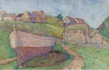 Пейзаж с лодкой - Горбатов, Константин