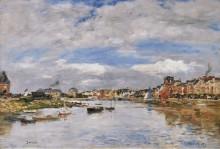Трувиль, порт, 1895 - Буден, Эжен
