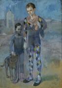 Два акробата с собакой - Пикассо, Пабло