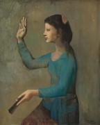 Дама с веером - Пикассо, Пабло