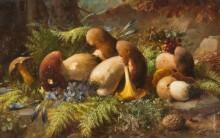 Натюрморт с лесными грибами - Зацка, Ханс
