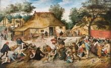 Крестьянская свадьба - Брейгель, Питер (Младший)