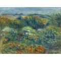Холмистый пейзаж, кусты и цветы - Ренуар, Пьер Огюст