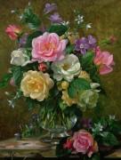Розы в стеклянной вазе - Вильямс, Альберт