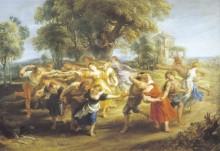 Сельский танец, 1638 -  Рубенс, Питер Пауль