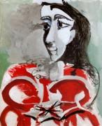 Портрет Жаклин, 1965 - Пикассо, Пабло
