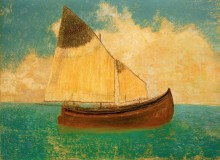 Лодка с желтыми парусами - Редон, Одилон