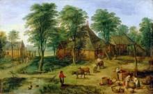 Крестьянское подворье - Брейгель, Ян (младший)