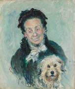 Эжени Графф с собачкой - Моне, Клод