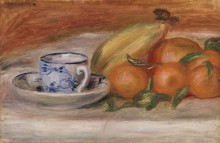 Апельсины, бананы и чайная чашка - Ренуар, Пьер Огюст