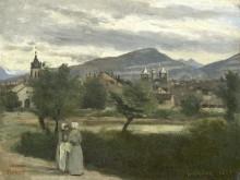 Пейзаж в Окрестностях Женевы - Коро, Жан-Батист Камиль