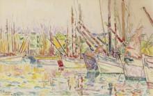 Лодки в Груа, 1923 - Синьяк, Поль