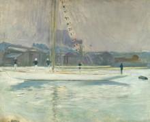 Яхта, входящая в порт, 1899 - Эллё, Поль-Сезар