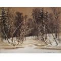 Лес зимой, 1884 - Шишкин, Иван Иванович
