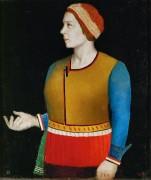 Портрет жены художника - Малевич, Казимир