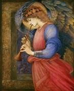 Ангел, музицирующий на фложолете - Бёрн-Джонс, Эдвард