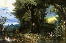 Лесной пейзаж со святым Игнатием Лойолой - Брейгель, Ян (младший)