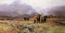 Стадо в горном пейзаже - Шеперд, Девид (20 век)