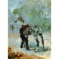 Артиллерист, садящийся на лошадь - Тулуз-Лотрек, Анри де