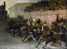 Скачки диких лошадей в Древнем Риме - Жерико, Теодор Жан Луи Андре