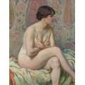 Сидящая обнаженная (Seated Nude), 1916 - Рейссельберге, Тео ван