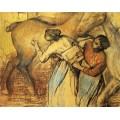 Прачки и лошадь, 1902 - Дега, Эдгар