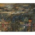 Парижский бульвар ночью 01 - Коровин, Константин Алексеевич