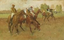 Перед скачками, 1882-88 - Дега, Эдгар