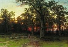 Лес вечером, 1868-1869 - Шишкин, Иван Иванович