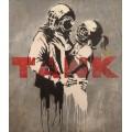 Танк - обнимающаяся пара - Бэнкси