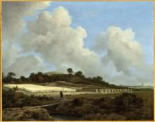 Пейзаж с полями недалеко от города - Рейсдал, Якоб Исаак