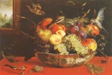 Чаша с фруктами для птиц - Спандонк, Корнелис ван