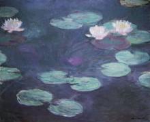 Розовые водяные лилии - Моне, Клод