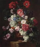 Цветы в терракотовой урне на каменном выступе -  Галле, Иероним