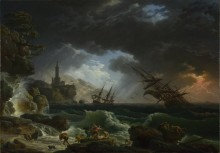 Кораблекрушение во время шторма - Верне, Клод Жозеф