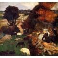 Пастушки Бретона, 1886 - Гоген, Поль