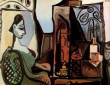 Жаклин в мастерской, 1956 - Пикассо, Пабло