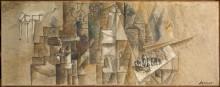 Натюрморт с трубкой - Пикассо, Пабло