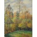Тополя, осень, 1894 - Писсарро, Камиль