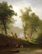 Индейский лагерь у реки Вулф, Канзас - Бирштадт, Альберт